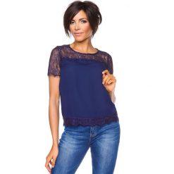 """T-shirty damskie: Koszulka """"Emma"""" w kolorze granatowym"""
