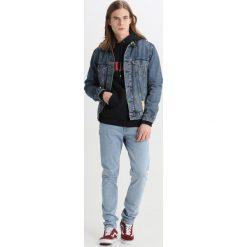 Kardigany męskie: Soulland JANSON HOODIE FRONT PRINT Bluza z kapturem black