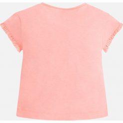 Mayoral - Top dziecięcy 98-134 cm. Szare bluzki dziewczęce bawełniane Mayoral, z nadrukiem, z okrągłym kołnierzem, z krótkim rękawem. Za 69,90 zł.