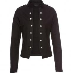 Żakiet z plisą guzikową bonprix czarny. Brązowe marynarki i żakiety damskie marki bonprix. Za 149,99 zł.