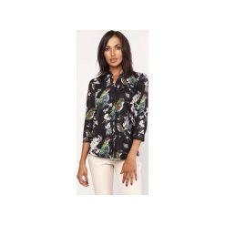 Koszula o luźnym kroju, K111 ptaki. Szare koszule wiązane damskie Lanti, na jesień. Za 119,00 zł.