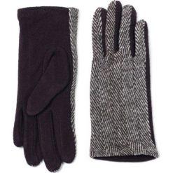 Rękawiczki damskie: Art of Polo Rękawiczki damskie wełniane w jodełkę brązowe r. 7.5