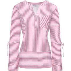Bluzki damskie: Bluzka bonprix biało-różowy