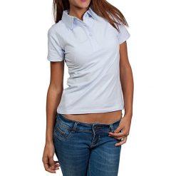 T-shirty damskie: Koszulka polo w kolorze błękitnym