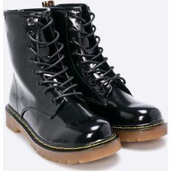 Haily's - Botki. Szare buty zimowe damskie Haily's, z materiału, na obcasie, na sznurówki. W wyprzedaży za 89,90 zł.