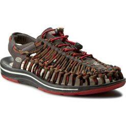 Sandały KEEN - Uneek Stripes 1014620 Red Dahlia/Raya. Brązowe sandały męskie skórzane Keen. W wyprzedaży za 259,00 zł.