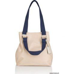 Skórzana torebka pasek parciany Alessia G-180. Szare torebki worki Pakamera, z bawełny. Za 489,00 zł.