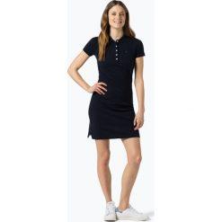 Tommy Hilfiger - Sukienka damska, niebieski. Niebieskie sukienki z falbanami marki TOMMY HILFIGER, m, z haftami, z bawełny, polo. Za 349,95 zł.