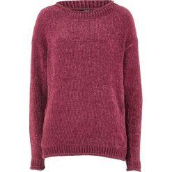 Sweter z szenili bonprix czerwony rododendron. Fioletowe swetry klasyczne damskie marki DOMYOS, l, z bawełny. Za 37,99 zł.