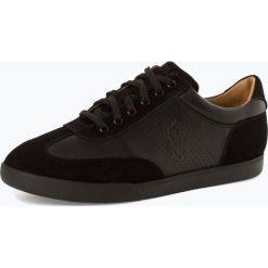 Polo Ralph Lauren - Męskie tenisówki ze skóry, czarny. Czarne tenisówki męskie Polo Ralph Lauren, ze skóry. Za 659,95 zł.