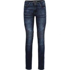 Dżinsy SKINNY bonprix ciemny denim. Niebieskie jeansy damskie skinny marki House, z jeansu. Za 159,99 zł.