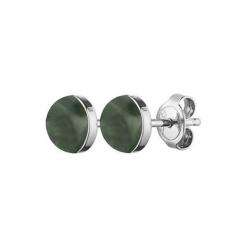 Kolczyki w kolorze srebrnym z agatami. Szare kolczyki damskie Dyrberg Kern, z agatem, srebrne. W wyprzedaży za 59,95 zł.