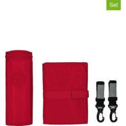 """Torebki klasyczne damskie: 3-częściowy zestaw akcesoriów """"Glam Signature"""" w kolorze czerwonym"""