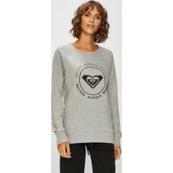 Roxy - Bluza. Szare bluzy z nadrukiem damskie marki Roxy, l, z bawełny, bez kaptura. Za 199,90 zł.
