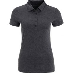 Nike Golf VICTORY  Koszulka sportowa black/heather/white. Czarne t-shirty damskie Nike Golf, xs, z materiału. W wyprzedaży za 142,45 zł.