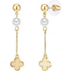 Kolczyki z perłami. Żółte kolczyki damskie Pearls Special, z perłą, z mosiądzu. W wyprzedaży za 58,95 zł.