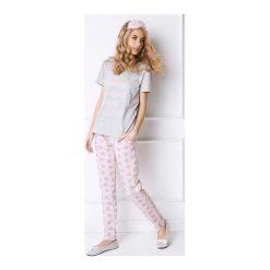 Piżama Diamonds Long. Czerwone piżamy damskie Aruelle, z nadrukiem. Za 120,90 zł.