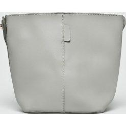 Answear - Torebka. Szare torebki klasyczne damskie ANSWEAR, w paski, z materiału, średnie. Za 89,90 zł.