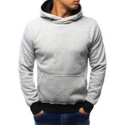 Bluzy męskie: Bluza męska z kapturem szara (bx3022)