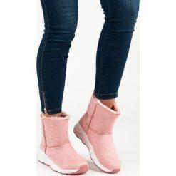 RÓŻOWE ŚNIEGOWCE. Czerwone buty zimowe damskie Merg. Za 76,90 zł.