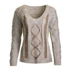 Swetry klasyczne damskie: Desigual Sweter Damski Maravillas Xs Beżowy