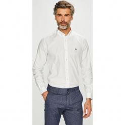 Lacoste - Koszula. Szare koszule męskie na spinki Lacoste, l, z bawełny, button down, z długim rękawem. Za 429,90 zł.