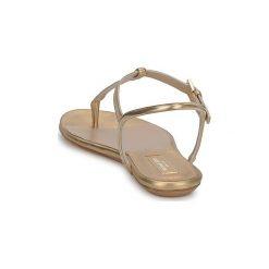 Sandały Michael Kors  MK18017. Żółte sandały damskie marki Kazar, ze skóry, na wysokim obcasie, na obcasie. Za 2287,20 zł.