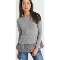 Koszule jeansowe damskie: Koszula ze swetrem 2-w-1