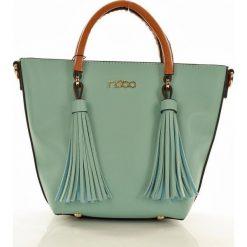 Kuferki damskie: NOBO Stylowa torebka mini kuferek niebieski