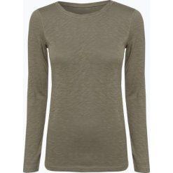 Marc O'Polo - Damska koszulka z długim rękawem, zielony. Szare t-shirty damskie marki U.S. Polo, l, z aplikacjami, z dzianiny, z okrągłym kołnierzem. Za 119,95 zł.