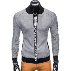 Bluzy męskie: BLUZA MĘSKA ROZPINANA BEZ KAPTURA B739 – SZARA