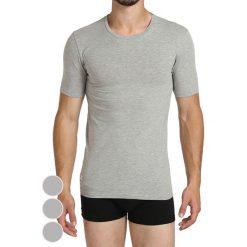 T-shirty męskie: T-shirt (3 szt.) w kolorze szarym