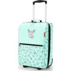 Walizka Trolley Kids XS Cats and Dogs miętowa. Zielone walizki Reisenthel, w kolorowe wzory, z materiału, duże. Za 379,00 zł.