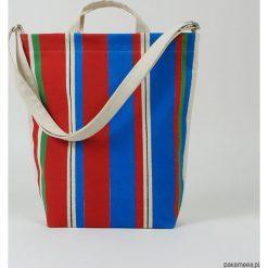 Ekologiczna torba na zakupy w kolorowe pasy. Szare torby na ramię męskie Pakamera, w kolorowe wzory, na ramię. Za 269,00 zł.