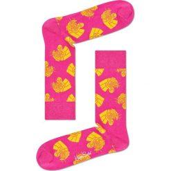 Happy Socks - Skarpetki Jaguar. Różowe skarpetki damskie Happy Socks, z bawełny. W wyprzedaży za 29,90 zł.
