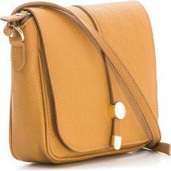 Torebki klasyczne damskie: Skórzana torebka w kolorze jasnobrązowym – 23 x 25 x 7 cm