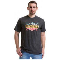 T-shirty męskie z nadrukiem: Meatfly T-Shirt Męski Bugler 2 M Ciemnoszary