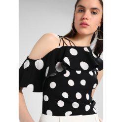 Bluzki asymetryczne: Karen Millen DOT COLLECTION Bluzka black/white