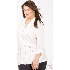 Bluza z troczkami Plus. Szare bluzy sportowe damskie Monnari, na wiosnę, plus size. Za 129,50 zł.