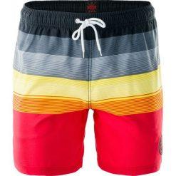 Kąpielówki męskie: AQUAWAVE Szorty męskie Shadow Black/Gray/Yellow/Red Stripes r. L