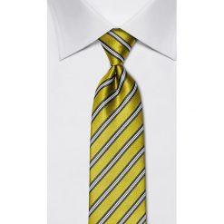 Krawaty męskie: Jedwabny krawat w kolorze zielonym – szer. 8 cm