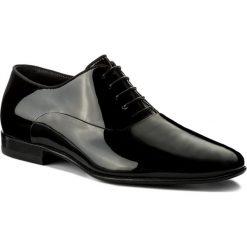 Półbuty BOSS - Evening 50370447 10193322 01 Black 001. Czarne buty wizytowe męskie Boss, z lakierowanej skóry. W wyprzedaży za 699,00 zł.