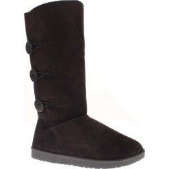 """Buty zimowe damskie: Kozaki """"Flora"""" w kolorze czarnym"""