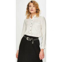 Answear - Koszula. Szare koszule damskie ANSWEAR, l, z bawełny, casualowe, z klasycznym kołnierzykiem, z długim rękawem. Za 119,90 zł.