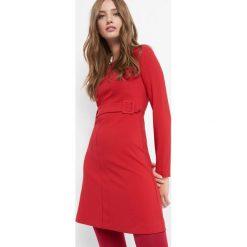 Sukienka trapezowa z paskiem. Brązowe sukienki letnie marki Orsay, s, z dzianiny. Za 139,99 zł.