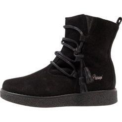 Buty zimowe damskie: Primigi Botki sznurowane nero