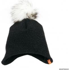Czapka zimowa z pomponem - czarny. Czarne czapeczki niemowlęce Pakamera, na zimę, z polaru. Za 79,00 zł.