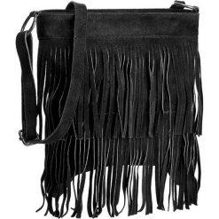 Torebka CREOLE - RBI10156 Czarny. Czarne listonoszki damskie Creole, ze skóry. Za 139,00 zł.
