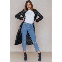 Spodnie z wysokim stanem: Statement By NA-KD Influencers Jeansy Raquelreitx - Blue
