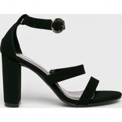 Answear - Sandały Spot On. Szare sandały damskie na słupku marki ANSWEAR, z gumy. Za 129,90 zł.